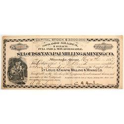 St. Louis & Yavapai Milling and Mining Company Stock  (77021)