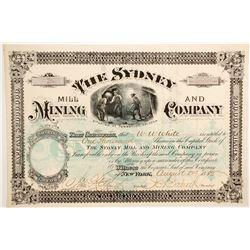 Sydney Mill and Mining Company Stock  (77017)