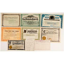 Rare Arizona Stocks and Ephemera  (89911)