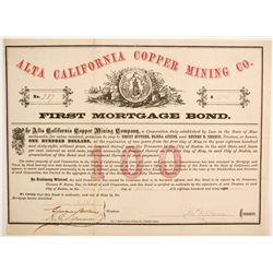 Alta California Copper Mining Bond  (89444)