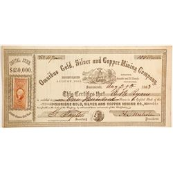Omnibus Gold, Silver and Copper Mining Company Stock  (90483)