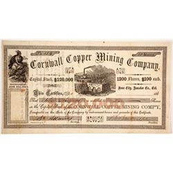 Cornwall Copper Mining Company Stock  (90502)