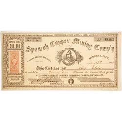 Spanish Copper MIning Company Stock  (90478)