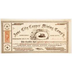 Ione City Copper Mining Company Stock  (90479)