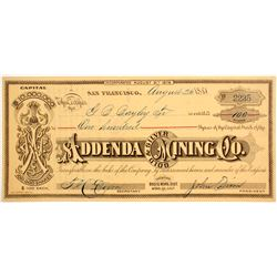 Addenda Gold & Silver Mining Company Stock - With JS Cain Connection  (77034)