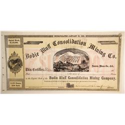 Bodie Bluff Consolidated Mining Stock with Stanford Sig  (90280)