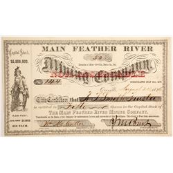 Main Feather River Mining Company stock  (90447)