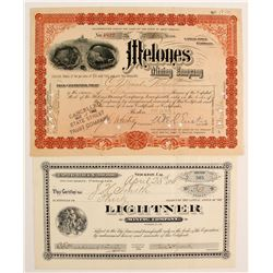 Calaveras Mining Pair: Lightner and Melones  (90430)