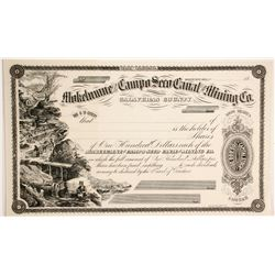 Mokelumne and Campo Seco Canal and Mining Company Stock  (90495)