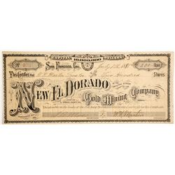 New El Dorado Gold Mining Company Stock  (90445)