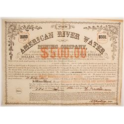American River Water and Mining Company BOND  (89442)