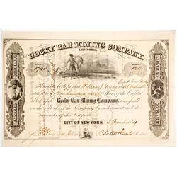 Rocky Bar Mining Company Stock - Rare Version  (90490)