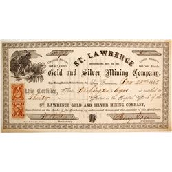 St. Lawrence Gold and Silver Mining Company Stock  (88154)