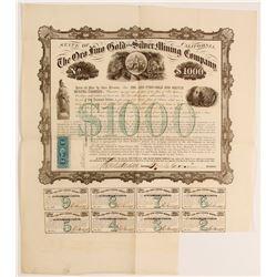 Oro Fino Gold and Silver Mining Company Bond, 1865   (90426)