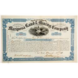 Mariposa Land & Mining Company Stock - Blue  (90486)