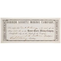 Banner Quartz Mining Company _ Rare  (90492)