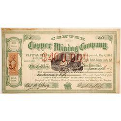 Center Copper Mining Company Stock  (90494)