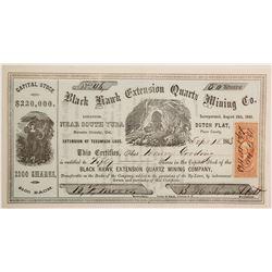 Black Hawk Extension Quartz Mining Company Stock  (90493)