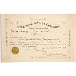 Lyon Gold Mining Company Stock  (90444)