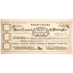 Gold Valley Main Tunnel & Mining Company Stock  (89445)