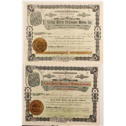 Two Randsburg Area Stock Certificates  (90419)