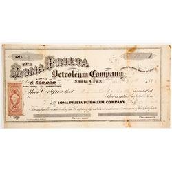 Loma Prieta Petroleum Company Stock  (90456)