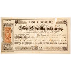 Kent & Honsinger Gold & Silver Mining Company Stock  (80318)