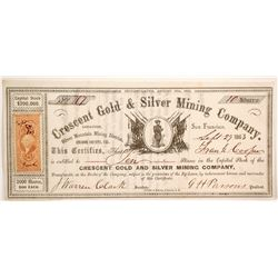 Crescent Gold and Silver Mining Company Stock  (80324)
