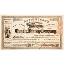 Rattlesnake Quartz Mining Company Stock  (90453)