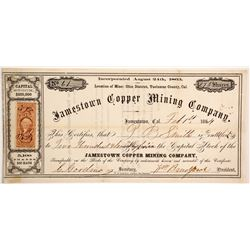 Jamestown Copper Mining Company Stock  (90467)