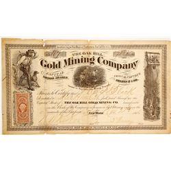 Oak Hill Gold MIning Company Stock  (90466)