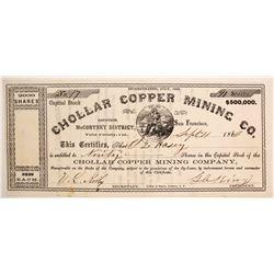 Chollar Copper Mining Company Stock  (77039)