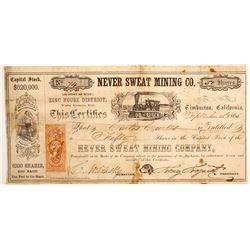Never Sweat Mining Company Stock  (77040)