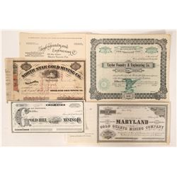 Gold Stocks (6) and Letterhead  (100071)