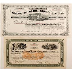 Tuolumne Co Mining & Dev Co/S. Springs Hill Gold Mining  (77221)