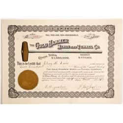 Gold Hammer Mines & Tunnel Company Stock Certificate  (89816)