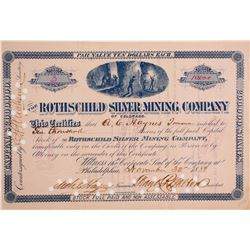 Rothschild Silver Mining Company of Colorado Stock  (90521)