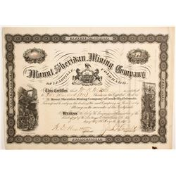 Mount Sheridan Mining Company of Leadville Stock  (89432)