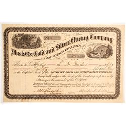 Musk Ox Gold and Silver Mining Company Stock  (89421)