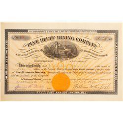 Pine Bluff Mining Company Stock  (90525)