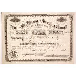 Lake City Mining & Smelting Company Stock  (89431)