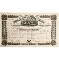 Hukill Gold and Silver Mining Company of new York Stock  (89430)