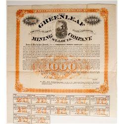 Greenleaf Mining Company Bond  (89428)