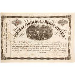 Bertha & Edith Gold Mining Company Stock  (89454)