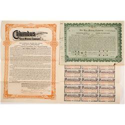 Colorado Mining Stock and Bond  (90580)