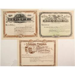 Three unissued Colorado Certificates with Colorado Datelines  (77037)