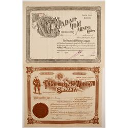 Two Colorado Certificates with Interesting Vignettes  (77036)