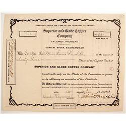 Superior and Globe Copper Stock  (89928)
