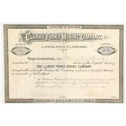 Clarks Fork Mining Company Stock  (90400)