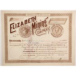 Elizabeth Mining Company with Morgan Dollar Vignette  (90417)